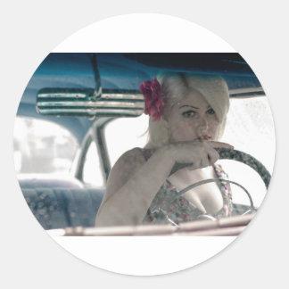 Driving Doris Classic Round Sticker