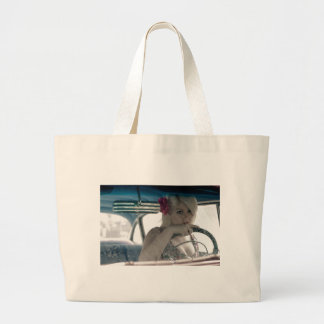 Driving Doris Large Tote Bag
