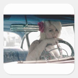 Driving Doris Square Sticker