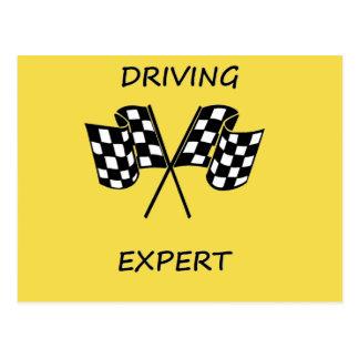 Driving expert postcard