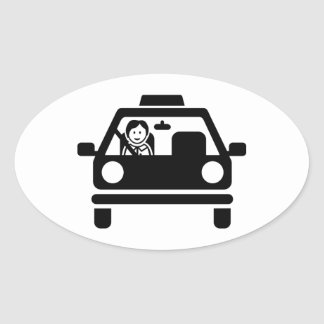 Driving instructor oval sticker