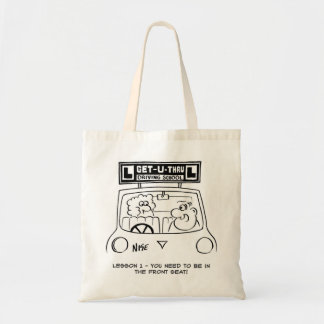 Driving Lesson - Pupil in the wrong seat Budget Tote Bag