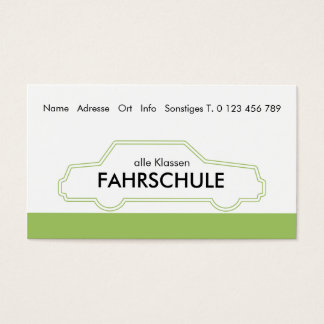 driving school business card