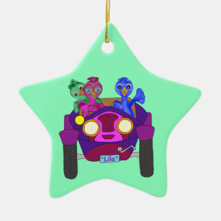 Driving The Kids by The Happy Juul Company Ceramic Star Ornament