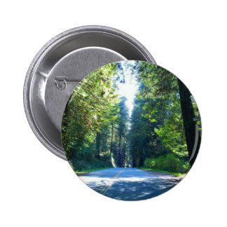 Driving Through the Forest in Crescent City 2 Inch Round Button
