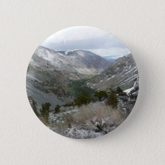 Driving Through the Snowy Sierra Nevada Mountains 2 Inch Round Button