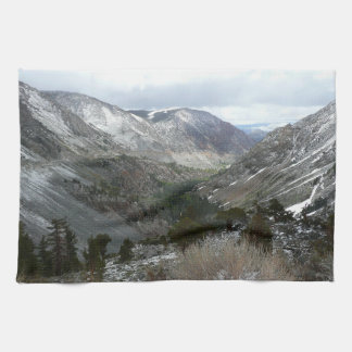 Driving Through the Snowy Sierra Nevada Mountains Towels
