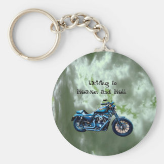 Driving to Heaven and Hell Key Chains