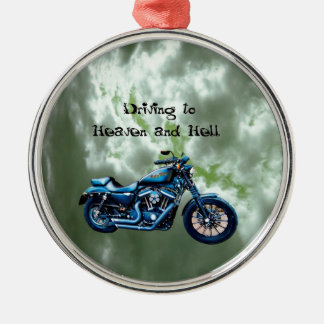 Driving to Heaven and Hell Silver-Colored Round Ornament