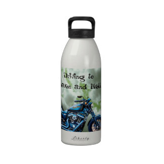 Driving to Heaven and Hell Reusable Water Bottles