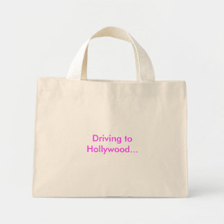 Driving to Hollywood... Mini Tote Bag