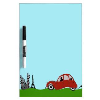 Driving to Paris Dry Erase Board