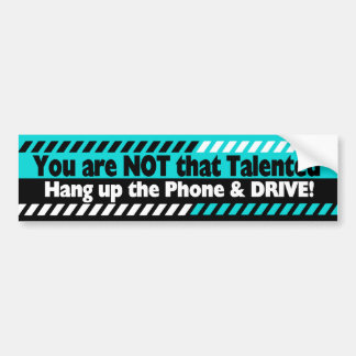 Driving with Cell Phone Bumper Sticker