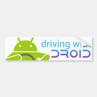 Driving with DROID, Android bumper sticker