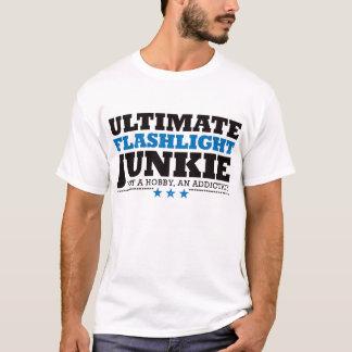 Drogué final de lampe-torche - bleu t-shirt