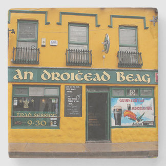 Droicead, Dingle, Irish Pub Marble Coaster. Stone Coaster