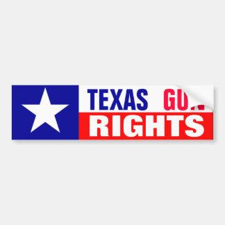 Droites d'arme à feu du Texas Autocollant De Voiture