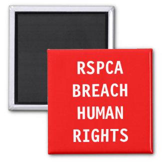 Droits de l'homme d'infraction de l'aimant RSPCA
