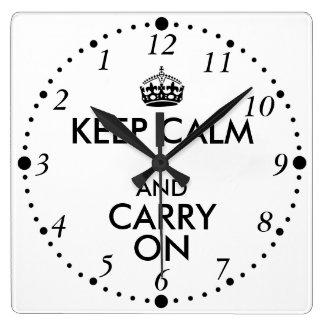 Drôle gardez le calme et continuez vers l'arrière horloge
