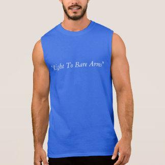 """Drôle, humour, """"droit de découvrir des bras """" t-shirts sans manches"""
