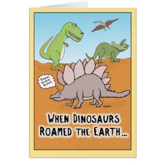 Drôle quand les dinosaures ont erré la carte