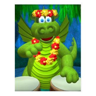 Drolly Dragons Drummer Postcard
