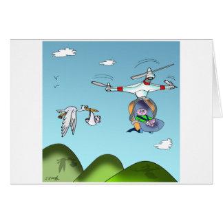 Drone Cartoon 9482 Card