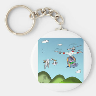 Drone Cartoon 9482 Keychain