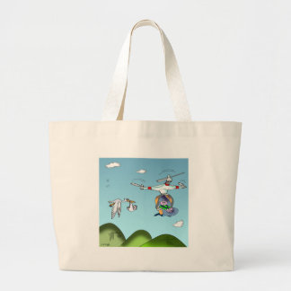 Drone Cartoon 9482 Large Tote Bag