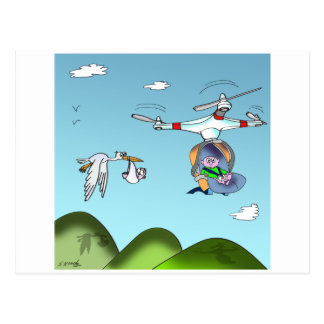 Drone Cartoon 9482 Postcard