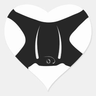 Drone Flying Heart Sticker