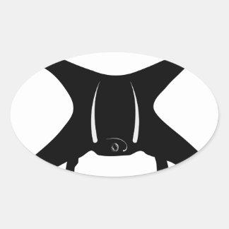 Drone Flying Oval Sticker