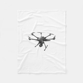 Drone Grey Fleece Blanket