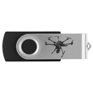 Drone Grey Swivel USB 2.0 Flash Drive