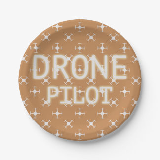 Drone pattern 7 inch paper plate