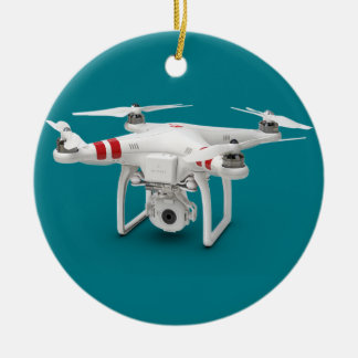 Drone phantom ceramic ornament
