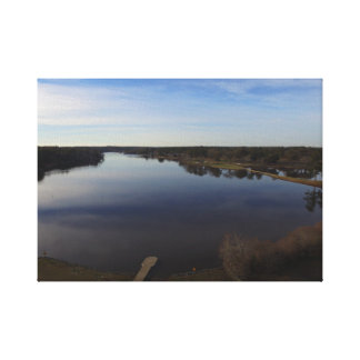 Drone picture at Lake Joy in Warner Robins. Canvas Print