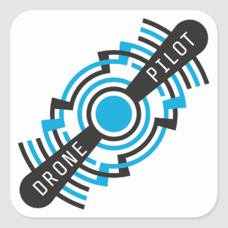 drone pilot square sticker