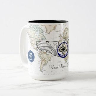 Drone Pilot Wings Two-Tone Coffee Mug