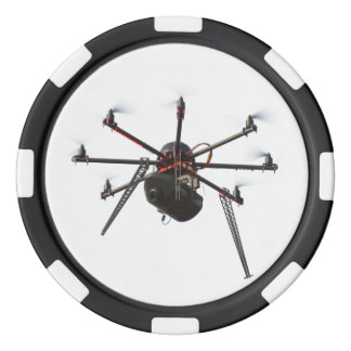 Drone quadcopter 2 poker chips