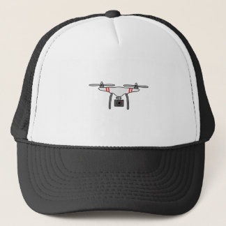 Drone Quadcopter Flying Front Trucker Hat
