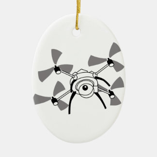 Drone Quadocopter Ceramic Ornament