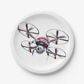 drone quadrocopter 7 inch paper plate