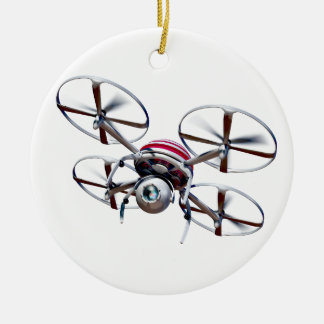 Drone quadrocopter ceramic ornament