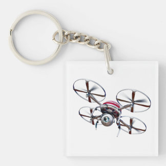 Drone quadrocopter keychain