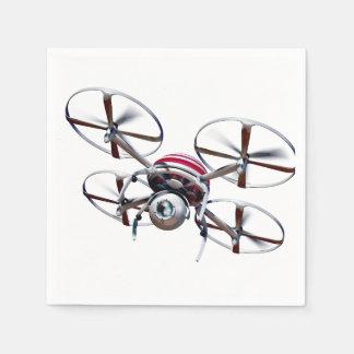 Drone quadrocopter paper napkin
