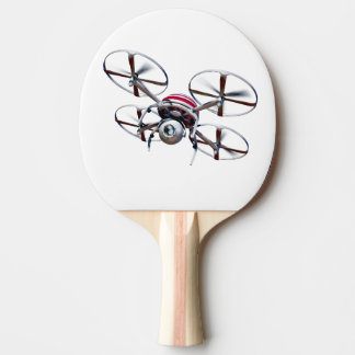 Drone quadrocopter ping pong paddle
