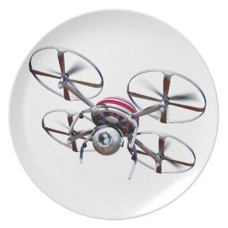 Drone quadrocopter plates