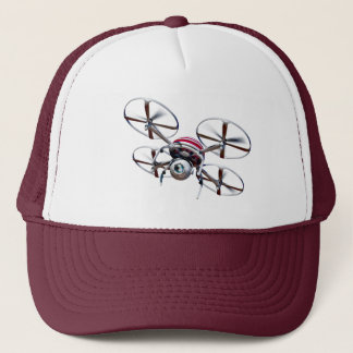Drone quadrocopter trucker hat