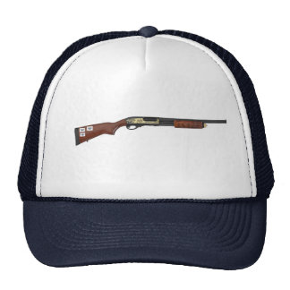 drone/shotgun trucker hat
